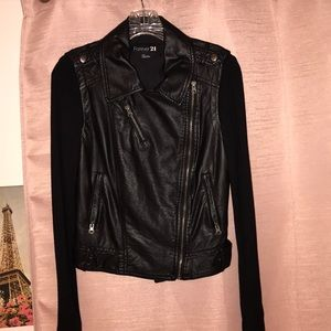 Forever21 Faux Leather Jacket SIZE SMALL
